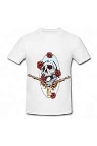 Tricou Guns and roses alb