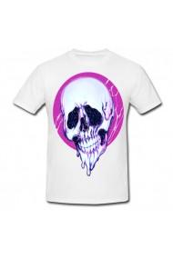 Tricou Skull aesthetic alb