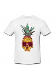 Tricou Pineapple skull alb
