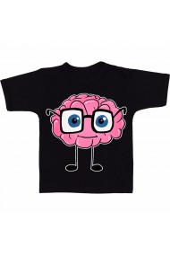 Tricou Creier ganditor negru