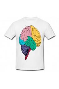 Tricou Creier colorat alb