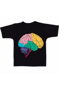 Tricou Creier colorat negru