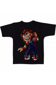 Tricou Chucky funny negru