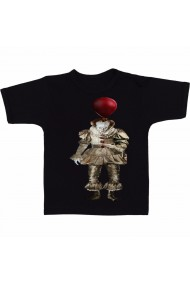 Tricou Pennywise drawing full body negru