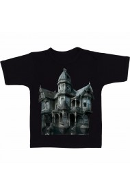 Tricou Haunted house negru