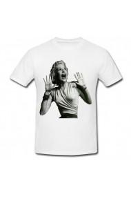 Tricou Marilyn Monroe screaming alb