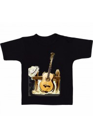 Tricou Country music negru