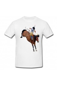 Tricou Cowboy on horse alb