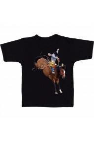 Tricou Cowboy on horse negru