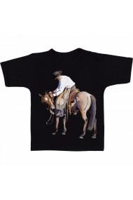 Tricou Horse cowboy negru