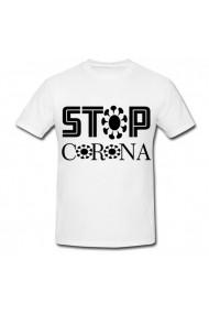Tricou Stop corona alb