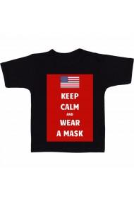 Tricou SUA - Poarta masca ! negru