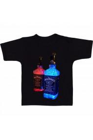 Tricou Jack Daniels Red & Blue negru