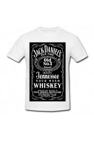 Tricou Whiskey Jack Daniel`s alb