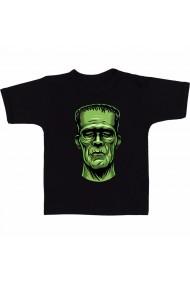 Tricou Frankenstein drawing negru