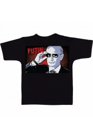 Tricou Russia with love Putin meme negru