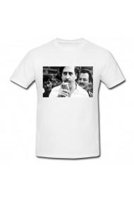 Tricou Pablo Escobar height feet alb
