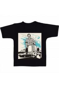 Tricou Pablo Escobar - wallpaper negru