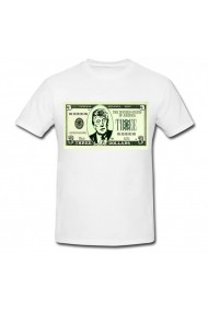 Tricou Donald Trump - 3 dolars alb