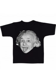 Tricou negruert Einstein face negru
