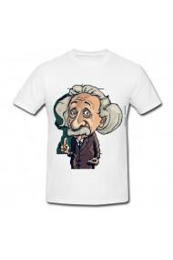 Tricou Albert Einstein - la tabla alb