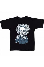 Tricou negruert Einstein stiker negru