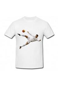 Tricou Cristiano Ronaldo - foarfeca alb