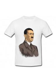 Tricou Adolf Hitler portret alb