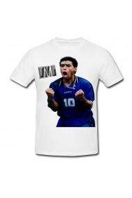 Tricou Diego Maradona - gol alb