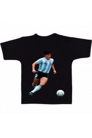 Tricou Diego Maradona dribbling negru