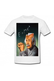 Tricou Surrealism Einstein alb