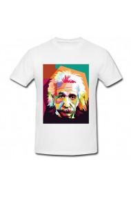 Tricou Albert Einstein multicolor alb