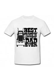 Tricou Best truckin dad ever alb