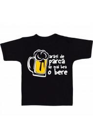 Tricou Arati de parca as mai bea o bere negru