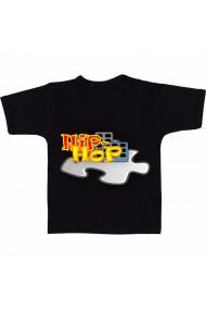 Tricou Hip Hop puzzle negru
