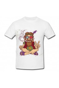 Tricou Art peace alb