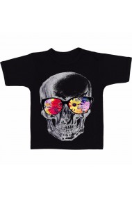 Tricou Mexican skull of glasses negru