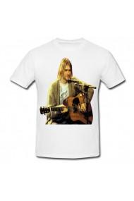 Tricou Kurt Cobain alb