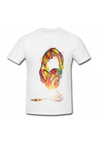 Tricou Headphones alb