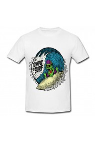 Tricou Temple of surf alb