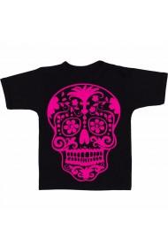 Tricou Sugar skull traditional negru