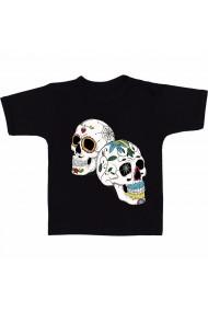Tricou Skull catrina negru