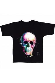 Tricou Colorful skull negru