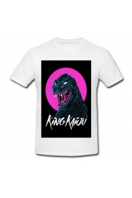 Tricou King Kaiju alb