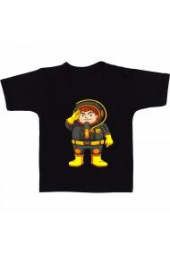 Tricou Astronauta art vector negru