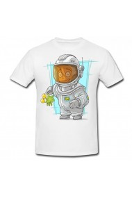 Tricou Peson in space suit alb