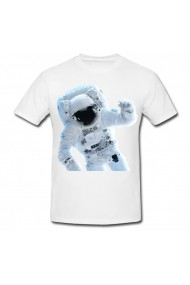 Tricou Astronaut Outer Space alb