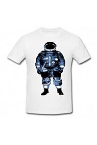 Tricou Astronaut vector alb