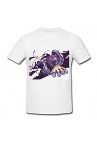 Tricou Astronaut drawing alb