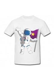 Tricou Cartoon space astronaut alb
